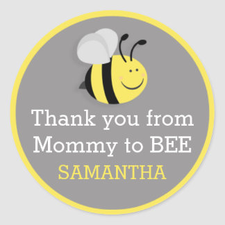 Mommy to Bee Baby Shower Thank You Stickers
