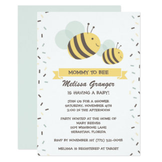 Mommy to Bee Bumblebee Baby Shower Invitation