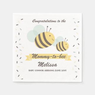 Mommy To Bee Bumblebee Baby Shower Napkin Paper Napkin
