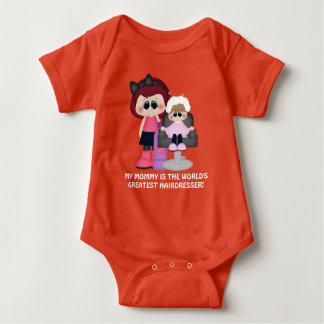 Mommy world's greatest hairdresser baby bodysuit