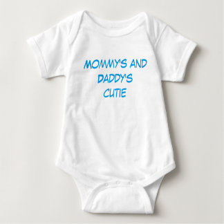 """Mommy's and Daddy's Cutie"" Baby clothes Baby Bodysuit"