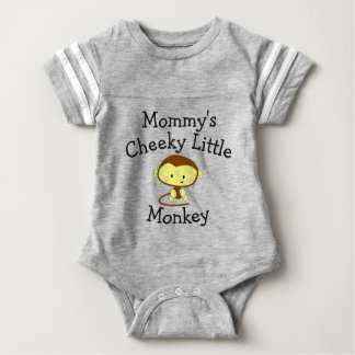 Mommy's Cheeky Little Monkey Customize Name Baby Bodysuit