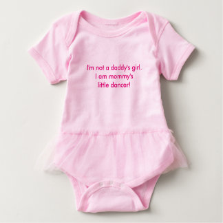 Mommy's dancer baby bodysuit
