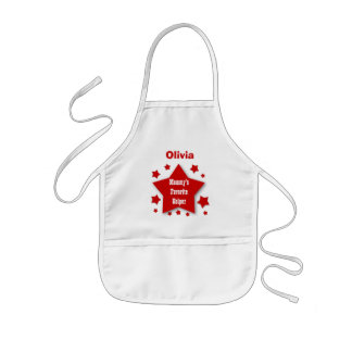 Mommy's Favorite Kitchen Helper Stars Big Small S1 Kids Apron