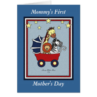 Mommy's First Mother's Day- Americana Style Card