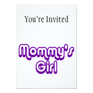 Mommy's Girl 5x7 Paper Invitation Card