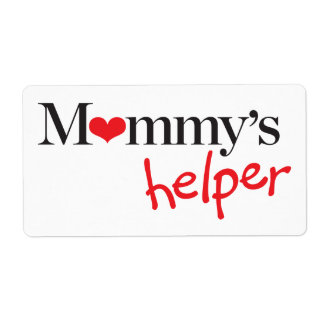 Mommy's Helper Shipping Label