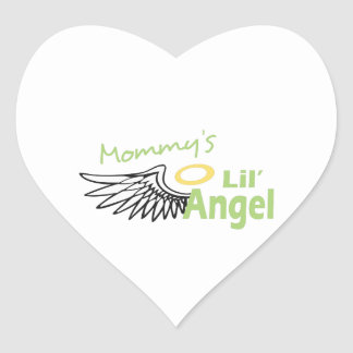 MOMMYS LIL ANGEL HEART STICKERS