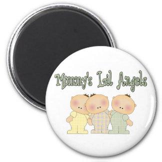 MOMMYS LIL ANGELS triplets Magnet