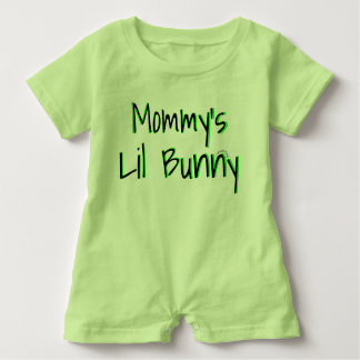 Mommy's Lil Bunny Easter Unisex Outfit Baby Romper
