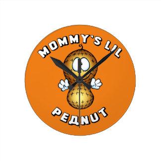 Mommy's Lil Peanut Round Clock