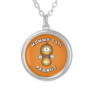 Mommy's Lil Peanut Silver Plated Necklace
