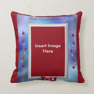 Mommy's Little Angel Throw Pillow