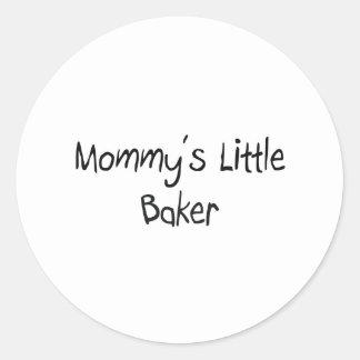 Mommy's Little Baker Classic Round Sticker