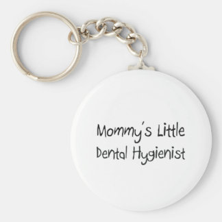 Mommys Little Dental Hygienist Basic Round Button Keychain