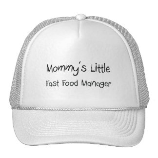 Mommys Little Fast Food Manager Mesh Hats