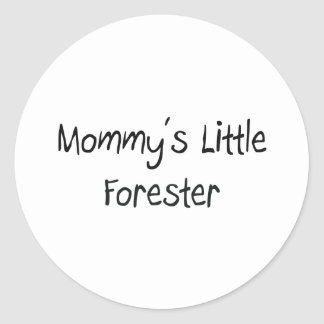 Mommys Little Forester Round Stickers