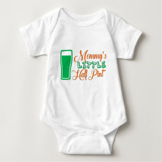 Mommy's Little Half Pint St. Patrick's Day Outfit Baby Bodysuit