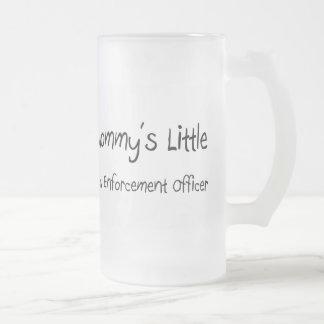 Mommys Little Law Enforcement Officer Frosted Glass Beer Mug