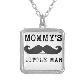 Mommy's Little Man Silver Plated Necklace
