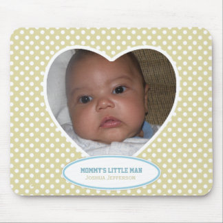 Mommy's Little Man: Yellow Heart: Picture Mousepad