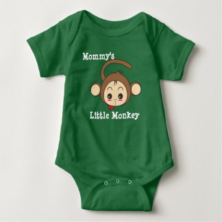 Mommy's Little Monkey Baby Bodysuit