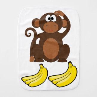 Mommys little monkey burp cloth