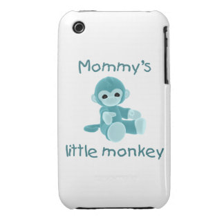 Mommy's Little Monkey (teal) iPhone 3 Case