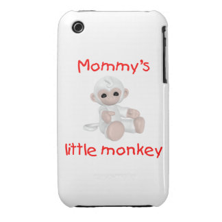 Mommy's Little Monkey (white) Case-Mate iPhone 3 Cases