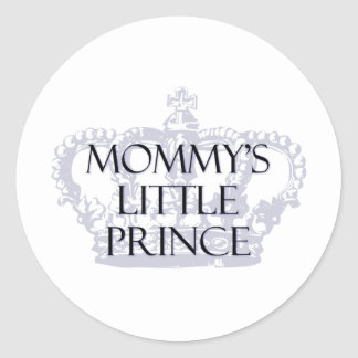 Mommy's Little Prince Classic Round Sticker