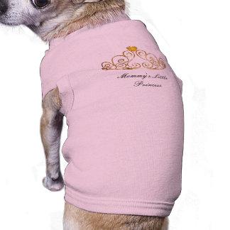 Mommy's Little Princess Tiara Design Pink Dog Tshirt