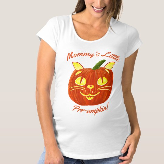 Mommy's Little Prr-umpkin Pumpkin Maternity T-Shirt