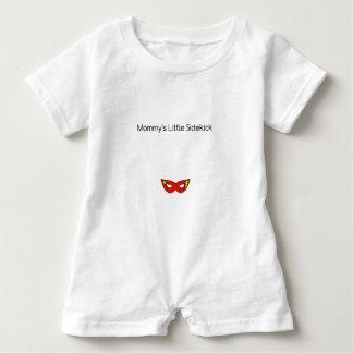 Mommy's Little Sidekick superhero mask unisex Baby Romper