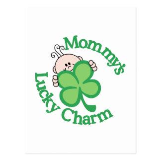 Mommy's Lucky Charm Postcard