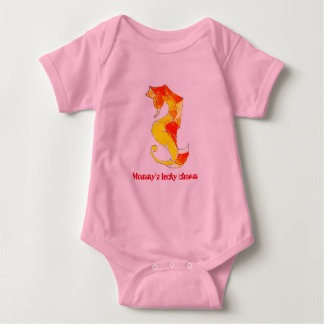 Mommy's Lucky Charm - seahorse baby bodysuit