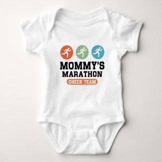 Mommy's Marathon Cheer Team Baby Bodysuit