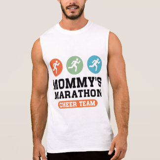 Mommy's Marathon Cheer Team Sleeveless Shirt