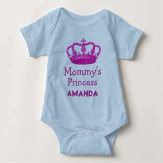 Mommy's Princess with Pink Crown V24B12 Baby Bodysuit