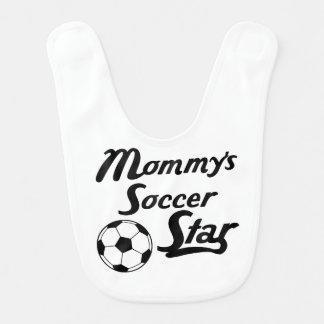 Mommy's Soccer Star Baby Bib