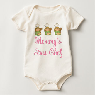 Mommys Sous Chef Gift Baby Bodysuit