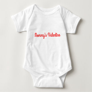 Mommy's Valentine unisex outfit Baby Bodysuit