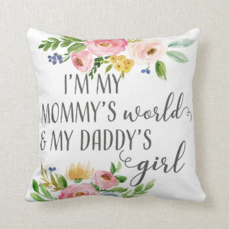 Mommy's World Daddy's Girl Baby Nursery Pillow