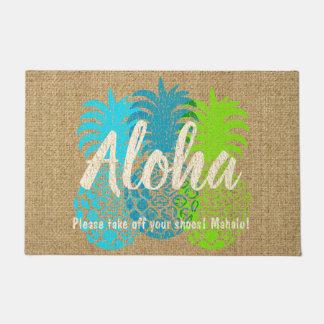 Momona Hawaiian Tropical Pineapple Aloha Doormat