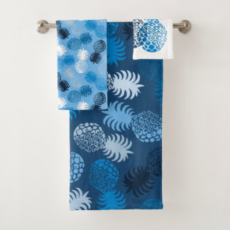 Momona Hawaiian Tropical Pineapple Coordinates Bath Towel Set
