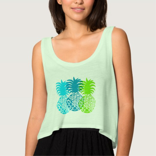 Momona Pineapple Hawaiian Tropical Tank Top