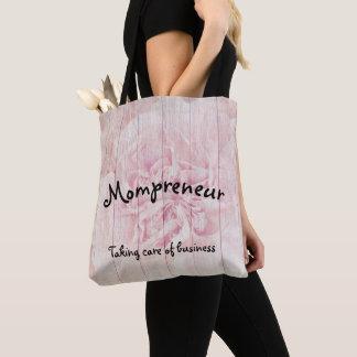 Mompreneur floral design tote bag