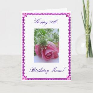 Moms 70th Birthday Card