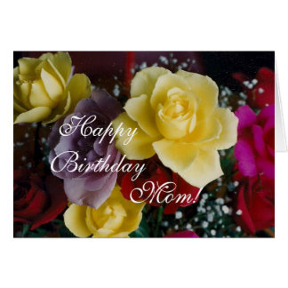 Mom's Birthday roses Card