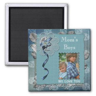 Mom's Boys Add Photo Magnet