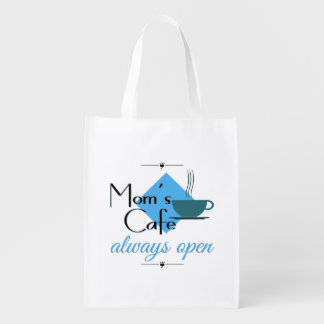 Mom's Cafe Always Open Reusable Grocery Bags